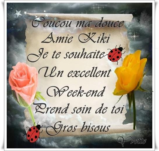 Merci Ma Douce Yvette Bon Week End à Toi Bisous