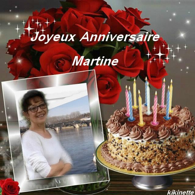 Joyeux Anniversaire Martine Bisous